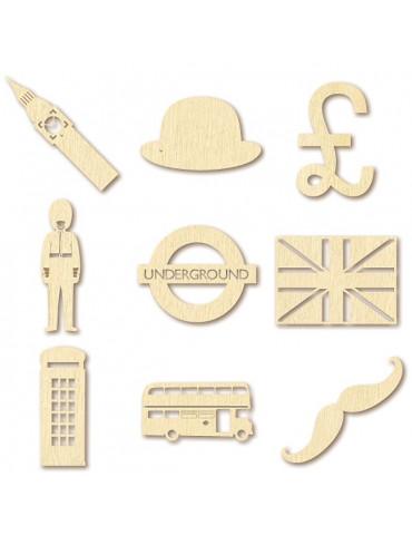 Mini silhouettes bois - London - Artemio