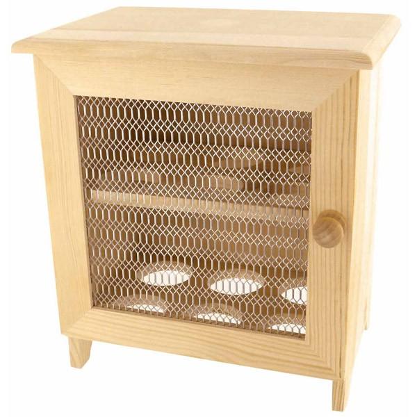boite oeufs en bois porte grillag e 18 5x22 5cm. Black Bedroom Furniture Sets. Home Design Ideas