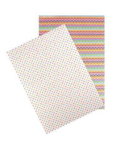 Washi paper - Pois et chevrons - A4