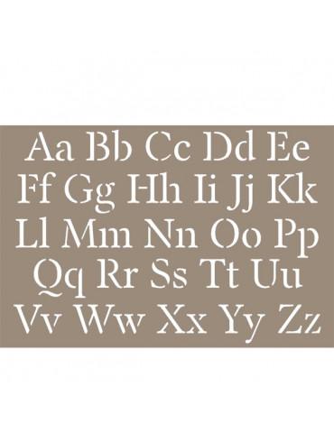 Pochoir Alphabet  10x15cm - Artemio