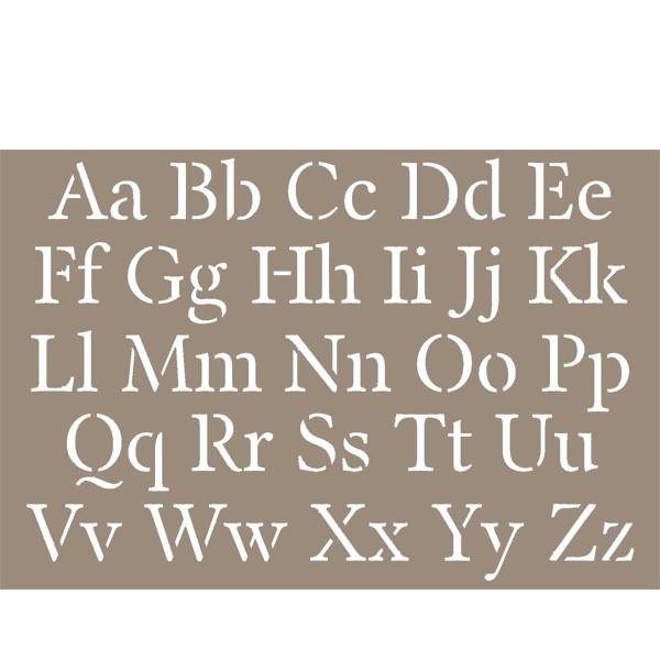 pochoir alphabet lettres majuscules minuscules 15x20cm artemio. Black Bedroom Furniture Sets. Home Design Ideas