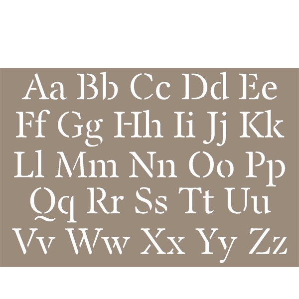 pochoir alphabet lettres majuscules minuscules 15x20cm artemio. Black Bedroom Furniture Sets. Home Design Ideas