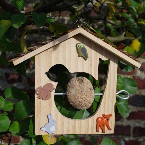 mangeoire pour oiseaux en bois 18x21 cm ctop. Black Bedroom Furniture Sets. Home Design Ideas
