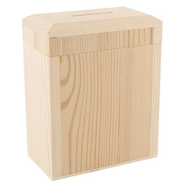 Tirelire A Decorer Tirelire En Bois Rectangulaire 10x5 5x3 Cm Ctop