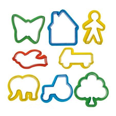 Emporte-pièces plastique - 8 petites formes