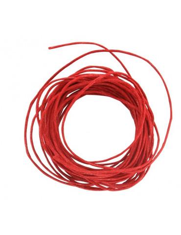 Coton ciré 1mm Rouge - 5m