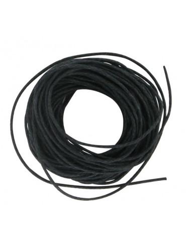 Coton ciré 1mm Noir - 5m
