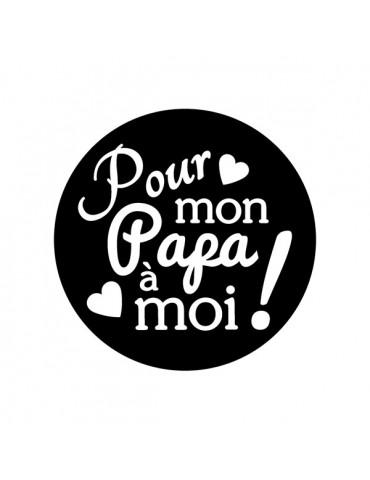 Tampon transparent - Papa - 4x4 cm - Artemio