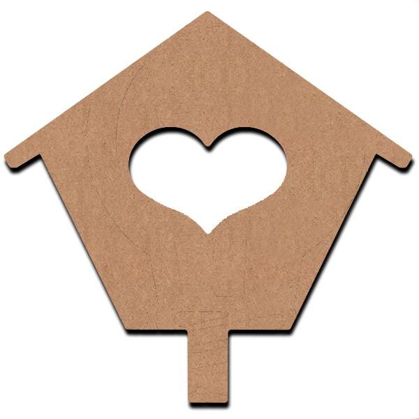 support bois d corer gomille maison coeur 26 cm. Black Bedroom Furniture Sets. Home Design Ideas