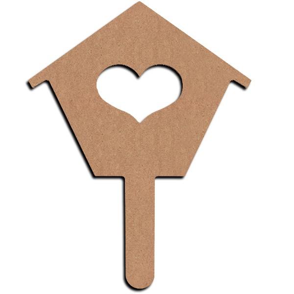 Gomille support bois d corer plantoir maison 15 cm - Maison pret a decorer ...