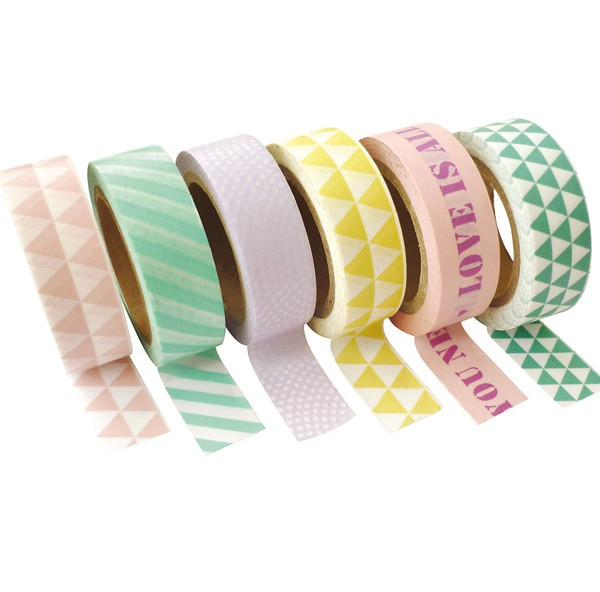 masking tape assortiment pastel 15mm x10m graines cr atives. Black Bedroom Furniture Sets. Home Design Ideas