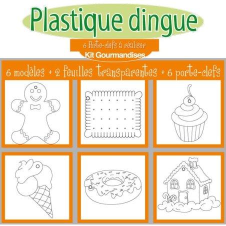 KIT Plastique dingue porte-clés gourmandises