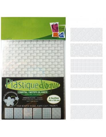 Plastique dingue motifs blanc - 6 feuilles petit format