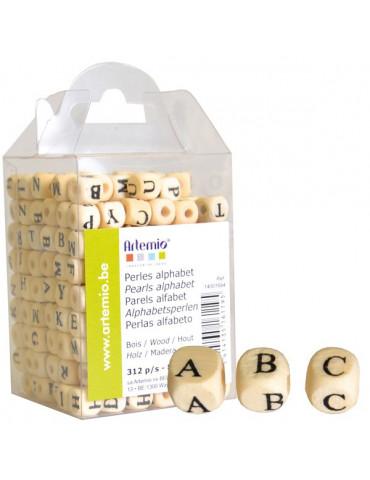 Perles alphabet bois - Artemio - 312 perles