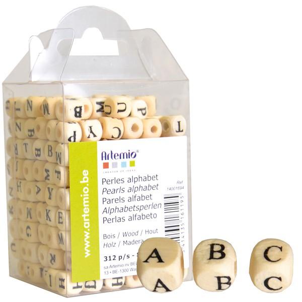 Perles alphabet bois  Artemio ~ Perle Lettre En Bois