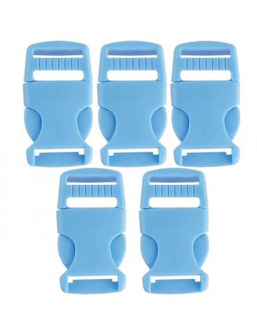 Fermoir Paracorde bleu 20mm - 5 pièces