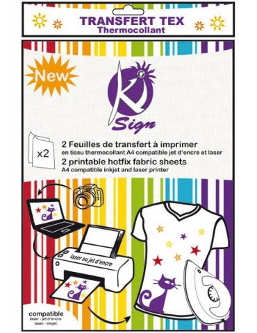 Feuille transfert textile x2 - Ki Sign