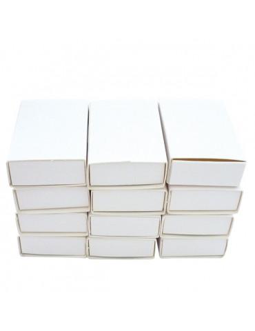 Boites allumettes blanches 5,3x3,6x1,5 cm - 12 pièces