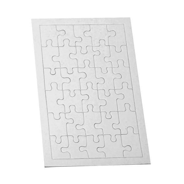 puzzle carton blanc 30 pi ces tout creer. Black Bedroom Furniture Sets. Home Design Ideas