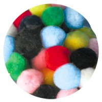 Pompons assortis 25mm x 50
