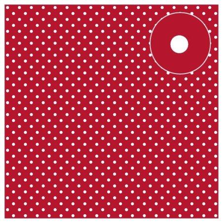 Feutrine imprimée Pois Rouge 1mm - 30x30cm