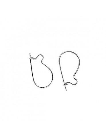 Crochets boucles d'oreilles argent 15mm - 5 paires