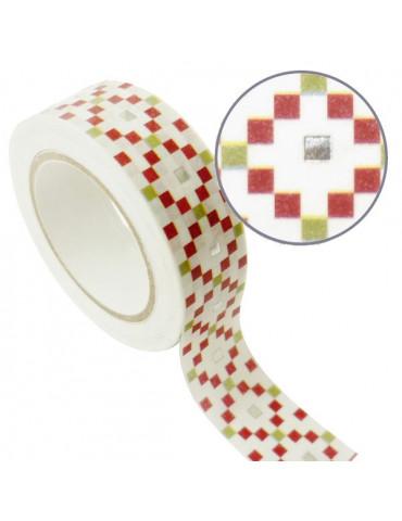 Masking tape - Cubes argent métal 15mm x10m