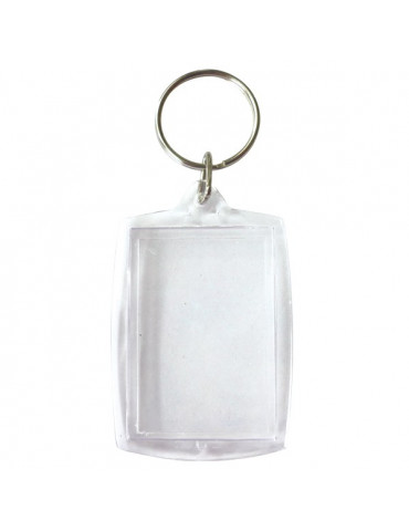 Porte-clés plastique rectangle x6