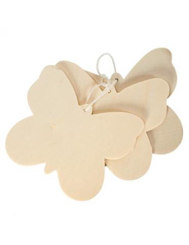 Set 3 silhouettes bois Papillon 8,5cm