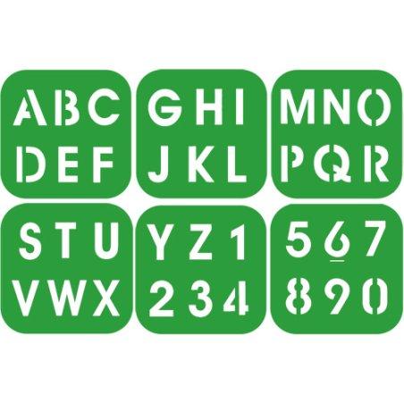 Pochoirs enfant - Alphabet & chiffres