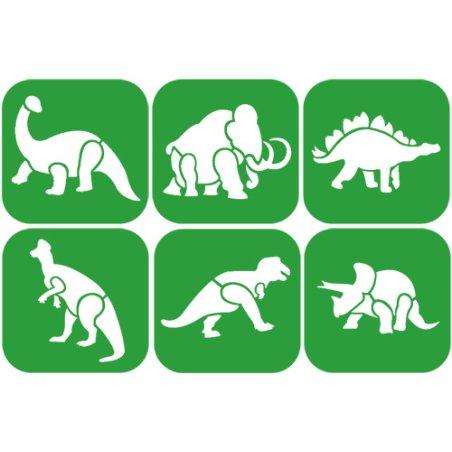 Pochoirs - Animaux préhistorique