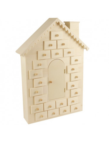 Calendrier de l'Avent Maison en bois 42cm