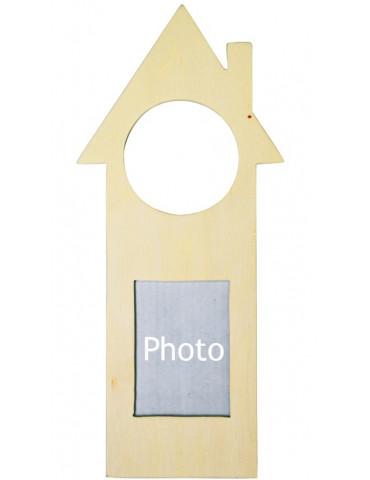 Plaque de porte en bois cadre photo