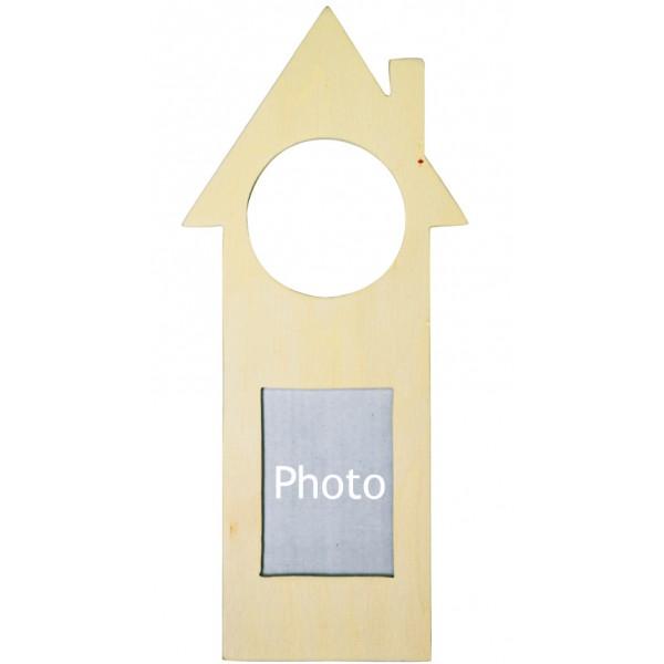 artemio plaque de porte en bois avec cadre photo 24x10cm. Black Bedroom Furniture Sets. Home Design Ideas