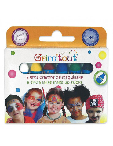 Crayons maquillage Grim'tout jumbo - Couleurs basiques x6