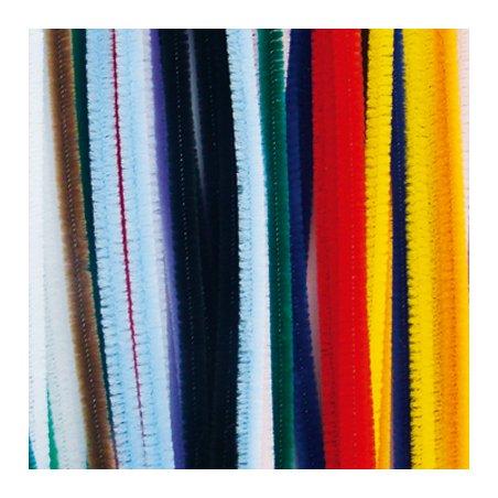 Fils chenille multicolores 6mm x45