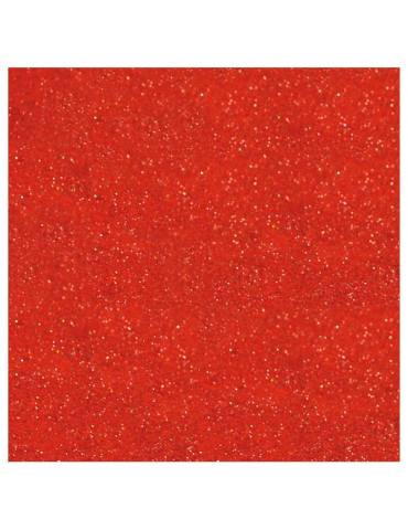 Feutrine Pailletée rouge 1mm - 30x30cm