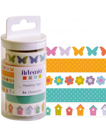 Masking tape Artemio Printemps x5 - 15mm x5m