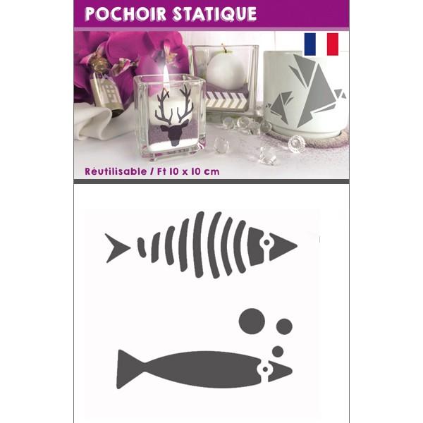 Pochoir statique poisson pochoir verre pocelaine dtm for Pochoir pour miroir