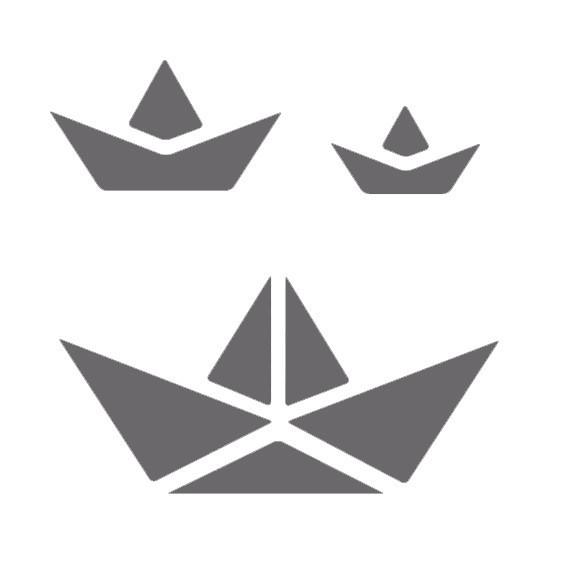 pochoir statique bateaux origami pochoir verre pocelaine dtm. Black Bedroom Furniture Sets. Home Design Ideas
