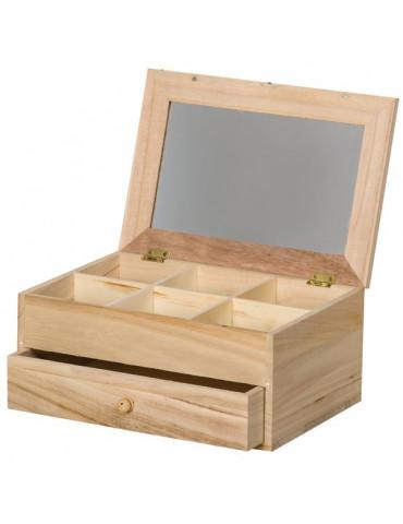 Coiffeuse miroir 6 compartiments + tiroir