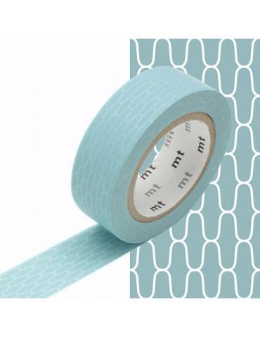 Masking tape - Alvéoles bleu