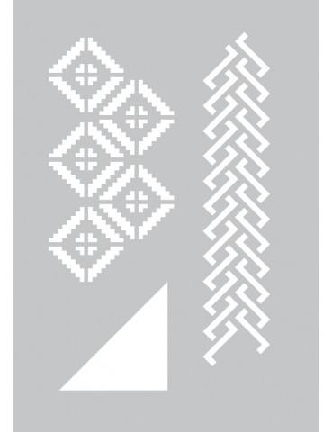 Pochoir adhésif Géométrique - 20x29cm