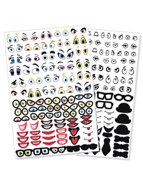 Gommettes Crazy face - 150 stickers