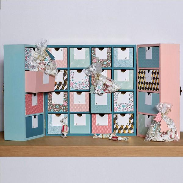 calendrier de l 39 avent bois armoire 27 5cm artemio. Black Bedroom Furniture Sets. Home Design Ideas