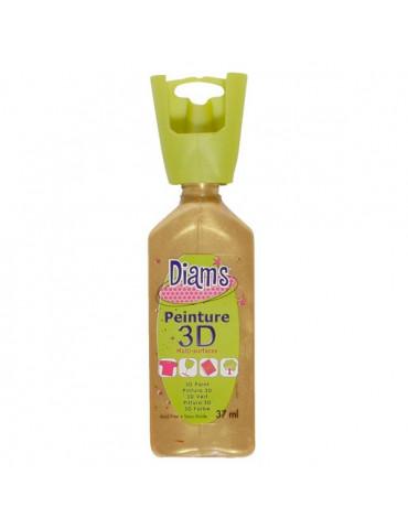 Peinture DIAM'S 3D nacrée or