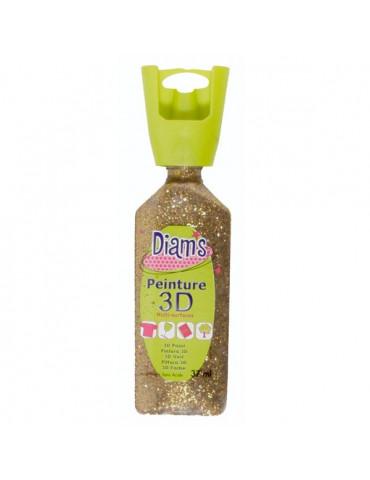 Peinture DIAM'S 3D pailletée or