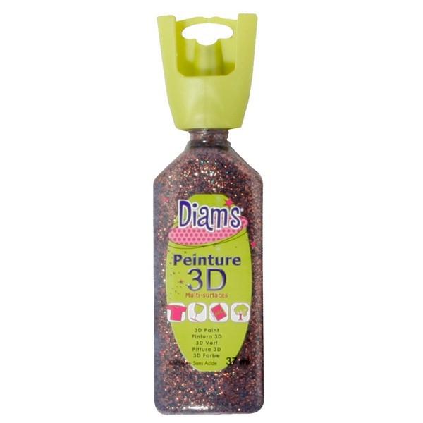 DIAM'S 3D pailletée grain de café