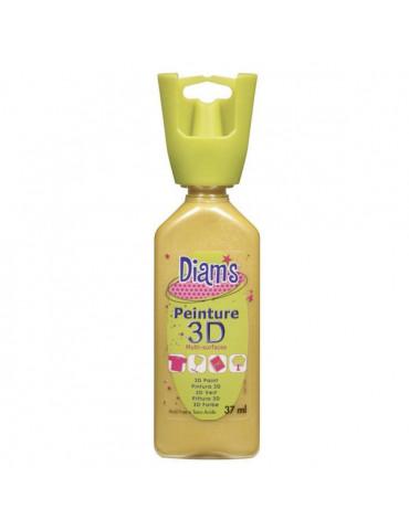 Peinture DIAM'S 3D nacrée jonquille