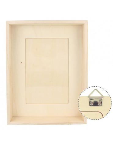 cadre photo peindre cadre photo en bois d corer cadre photo bois brut tout creer. Black Bedroom Furniture Sets. Home Design Ideas